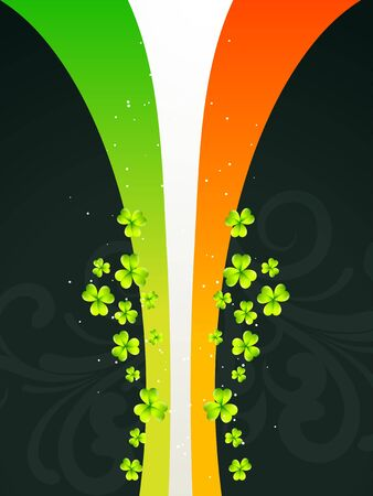 vector beautiful st patrick's day design in flag style Stock Vector - 17988045