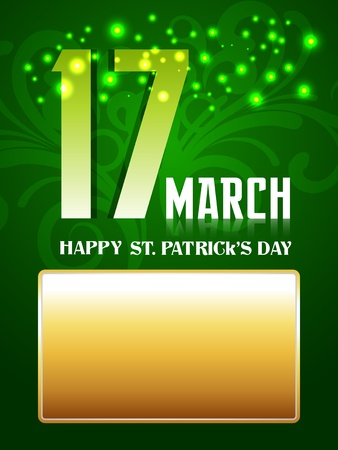 17th: vector 17th of march saint patricks day background Illustration