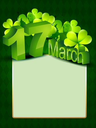 vector saint patrick's day design with space for your text Stock Vector - 17988064