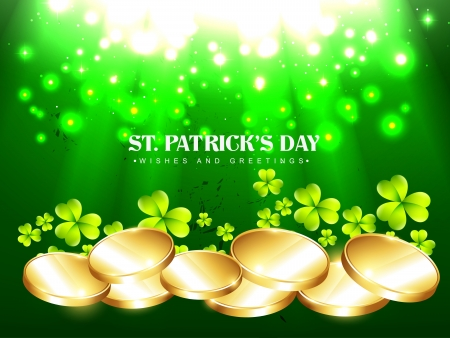 vector golden coins saint patricks day design Vector