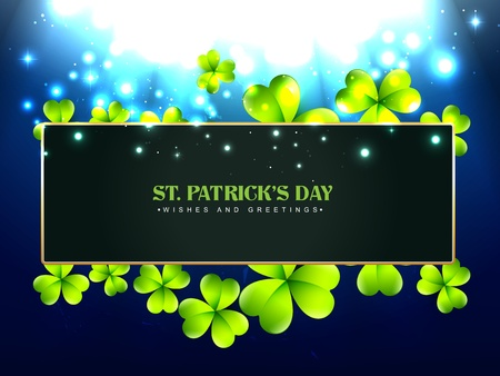 vector beautiful saint patrick's day design with space for your text Stock Vector - 17988060