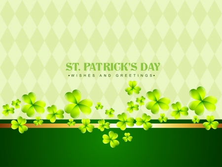 stylish saint patricks day background with space for your text Vector
