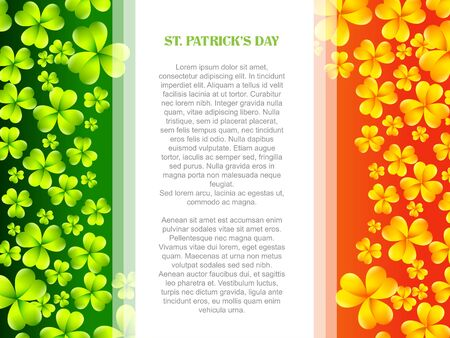 vector stylish saint patricks day design in flag style Vector