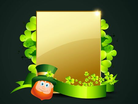 17th: vector leprechaun with space for your text Illustration