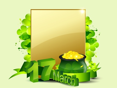 saint patricks day vector design illustration with space for your text Vector