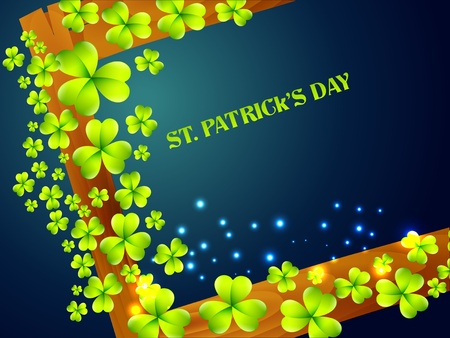 stylish saint patrick's day background with space for your text Stock Vector - 17988155