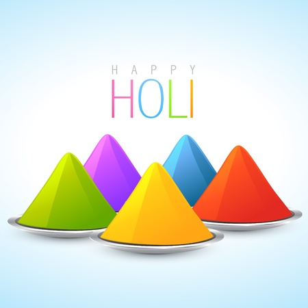 hindus: vector indian holi festival colorful illustration