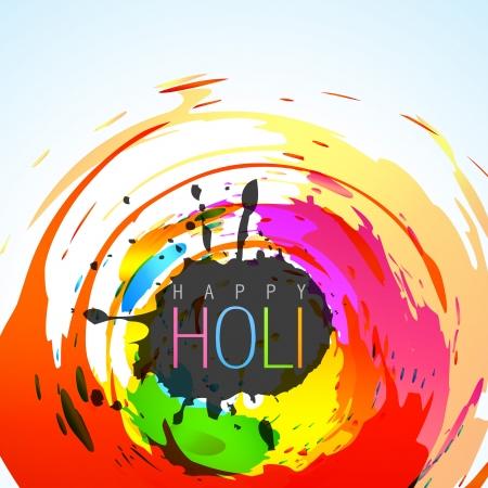 hindues: vector colorido estilo grunge de fondo holi