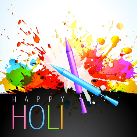 beautiful colorful background of holi festival Stock Vector - 18075743