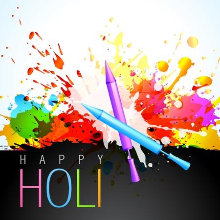 hindus: beautiful colorful background of holi festival Illustration