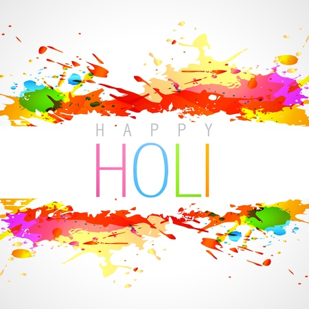 hindus: vector colorful holi festival background