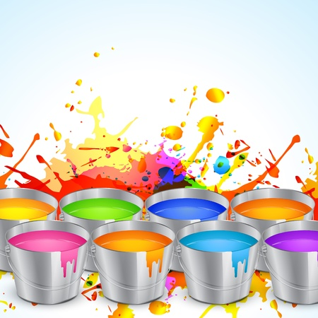 bucket of water: colorful splashes of festival holi