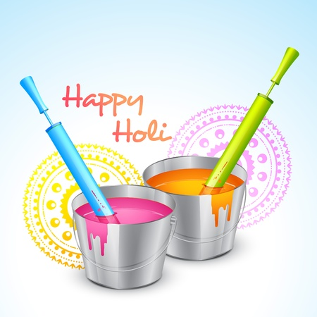 vector colorful holi festival illustration Vector