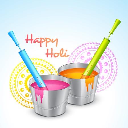 hindus: vector colorful holi festival illustration