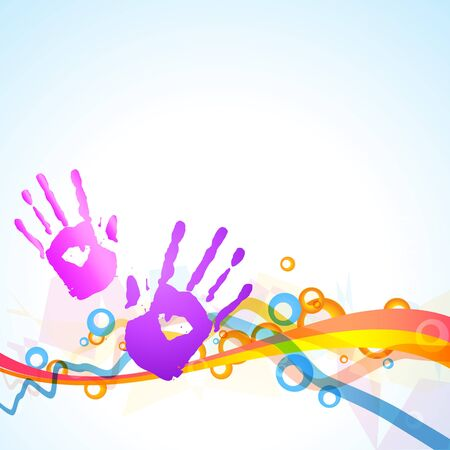 hindus: vector colorful hands vector design