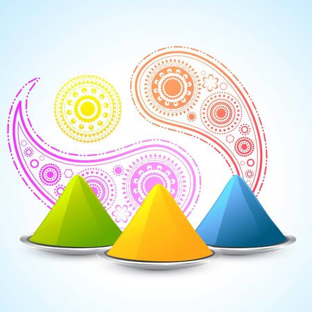 vector stylish background of indian hindu festival holi Vector