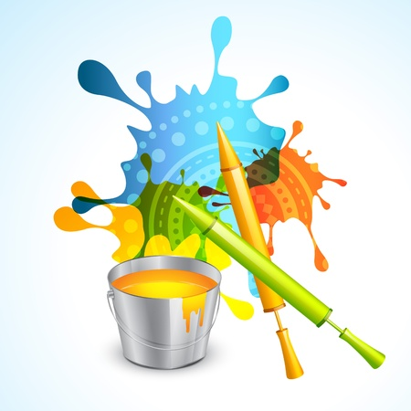 colorful splashes of festival holi Vector