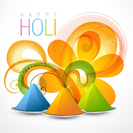 dharma: beautiful colorful background of holi festival with gulal