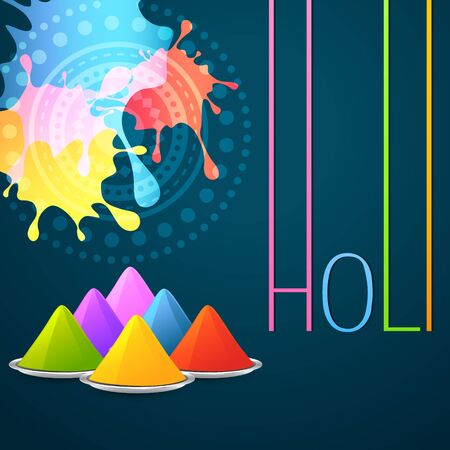 colorful holi festival vector background Vector