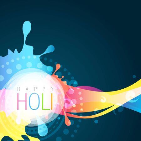 hindus: vector holi festival background illustration