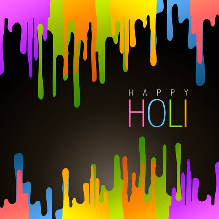 vector colorful background of holi festival Vector