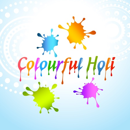 beautiful background of colorful indian hindu festival holi Vector