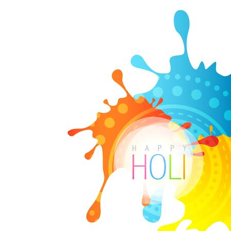 beautiful colorful background of holi festival Vector
