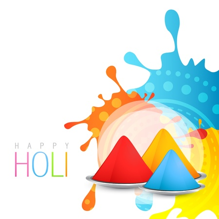 beautiful colorful background of holi festival with space for your text Illustration