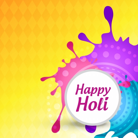 festival vector: vector colorful background of indian festival holi