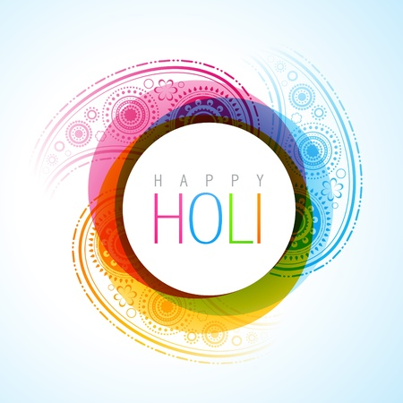 beautiful vector holi festival background in indian style Vector