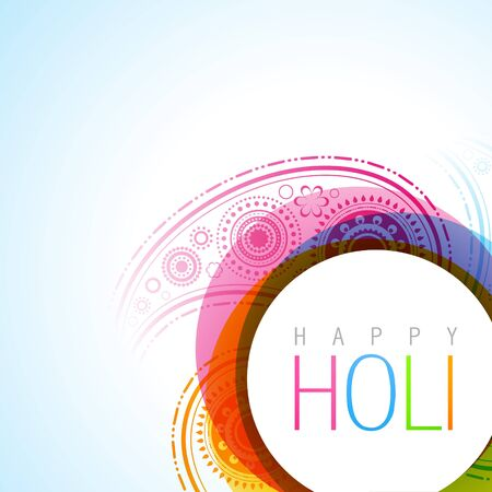 hindus: vector holi festival background illustration