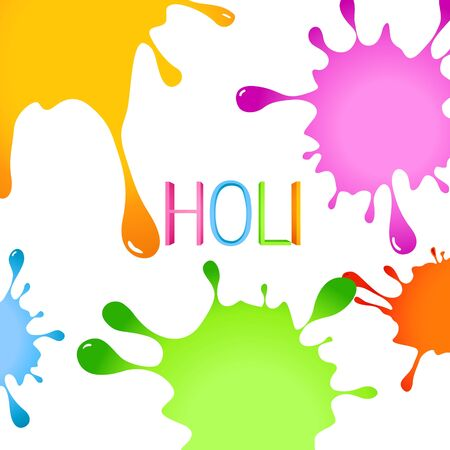 stylish colorful holi festival background with splashes Stock Vector - 18075414