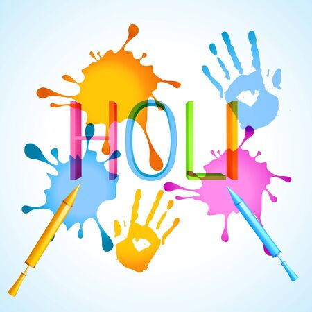 stylish colorful holi festival background with splashes Vector