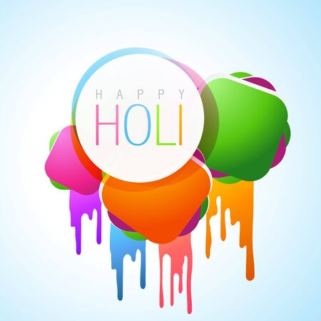 beautiful colorful background of holi festival with space for your text Stock Vector - 18075403