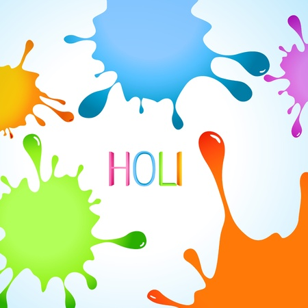vector colorful background of indian festival holi Stock Vector - 18075376
