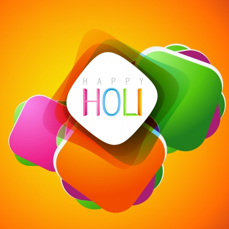stylish colorful holi festival background design Vector