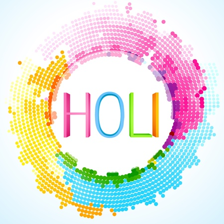 beautiful colorful holi festival background Vector