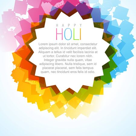 stylish colorful holi festival background Stock Vector - 18075766