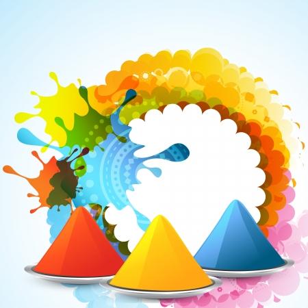 hindues: elegante colorido festival de holi fondo Vectores