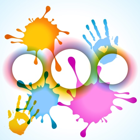 hindues: vector salpicaduras diseño de fondo multicolor