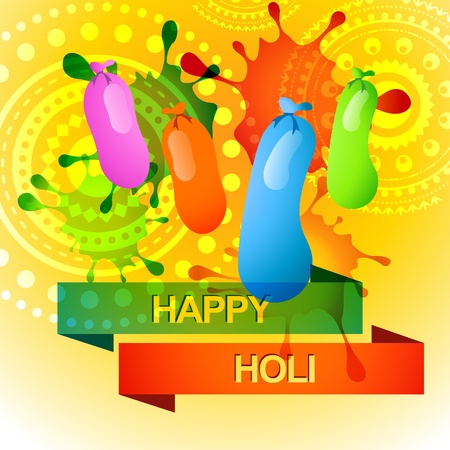 vector beautiful colorful indian holi festival background Vector