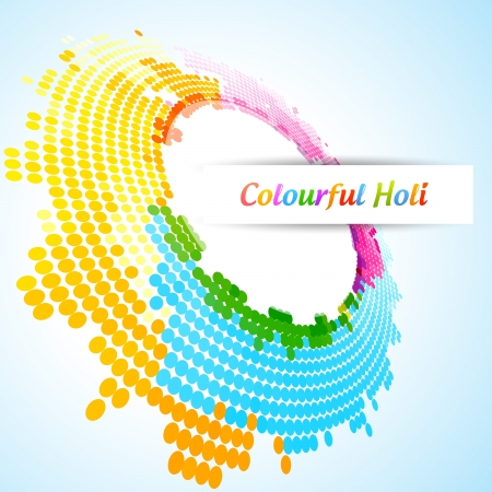 hindus: vector colorful background of indian festival holi