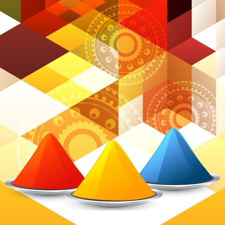 gulal: vector set of colorful holi festival gulal Illustration