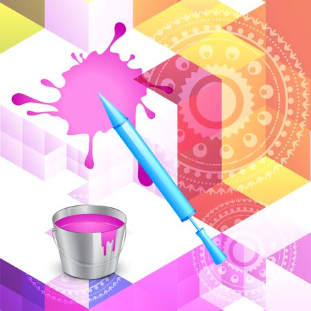 hindus: vector beautiful colorful indian holi festival background