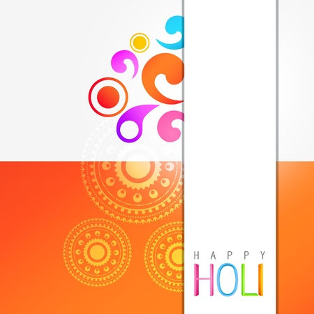 stylish colorful holi festival background Vector