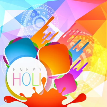 vector colorful holi splashes background illustration Vector