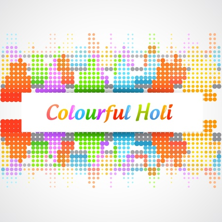 beautiful vector holi festival background design Vector