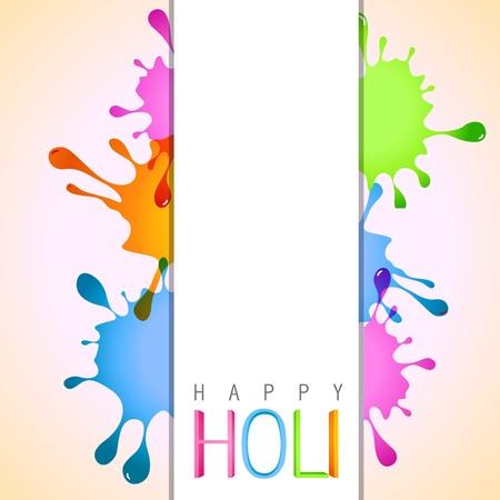 happy holi: vector holi color splashes design