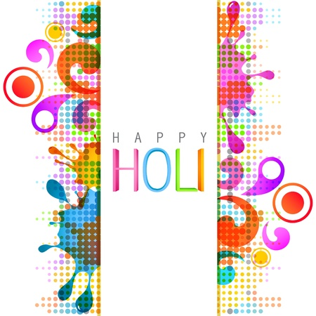 beautiful colorful indian festival holi background Vector
