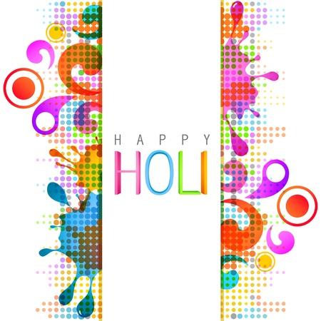 de cor: bonito colorido festival de Holi indiano fundo Ilustração